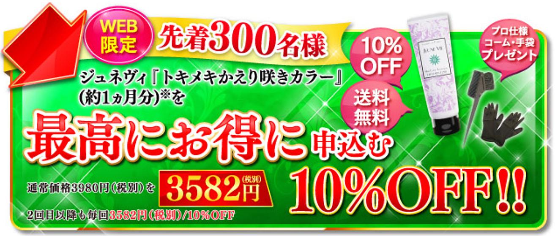 トキメキかえり咲きカラー 最安値2