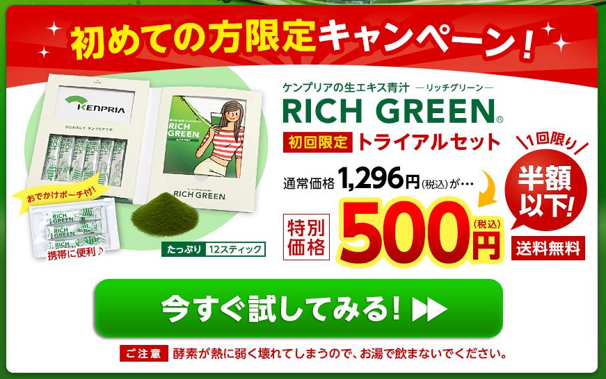 リッチグリーン 最安値1