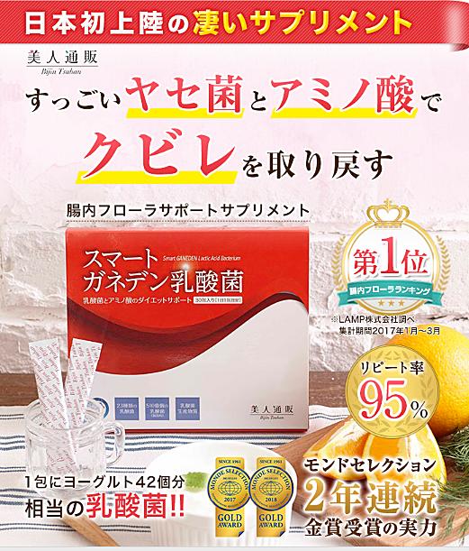 スマートガネデン乳酸菌 最安値 定期コース
